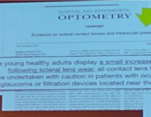 מתוך כנס ECLSO European Contact Lens Society of Ophthalmologists אודות לחץ תוך עיני ועדשות מגע סקלרליות